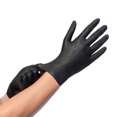Gants Nitrile Noir XL 100pc