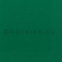 Serviettes en papier vert foncé 2-couches 33x33cm 125pc Duni