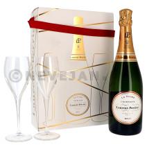Champagne Laurent Perrier 75cl Brut + 2 Verres Emballage Cadeau (Champagne)