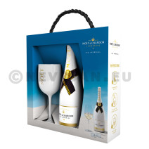 Champagne Moet & chandon Ice Imperial 75cl + 2 verres emballage cadeau
