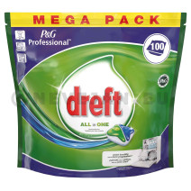 Dreft All in 1 Regular tablettes lave-vaisselle 100pc P&G Professional