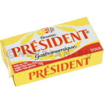 President portions beurre micropains 10gr alu 100pc