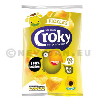Croky Chips regular Pickles 20x45gr (Koek - snoep - chips - nootjes)