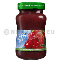 Confiture 4 fruits 330gr Effi