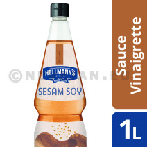 Hellmann's vinaigrette sesam-soya 1L bouteille pincable