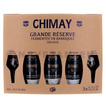 Chimay Trilogie 3x75 cl + 2 verre + Cofftret Cadeau (Bier)
