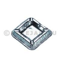 Cendrier aluminium carré 10x10cm 100pc argent