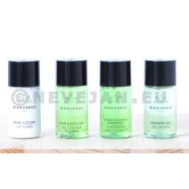 Lait Corps + Gel Douche + Shampooing Conditioneur + Gel Cheveux 20ml 4x110pc Bienvenue