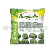 Epinards en Branches en palets 2.5kg Légumes Surgelé Bonduelle Food Service
