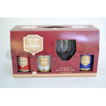 Trappiste Chimay 6x33 cl + 1 verre + Emballage Cadeau