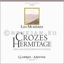 Crozes Hermitage rouge Les Murières Gabriel Meffre