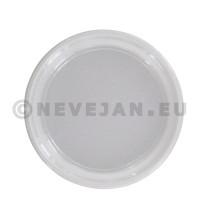 Assiette plastique PP 1compartiment 22cm 100pc