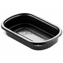 Duni Barquette Repas Alimentaire 1 compartiment 800ml Noir PP 240x150x40mm 50pc