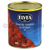 Elvea Cubes de Tomates Pelees 800gr en boite