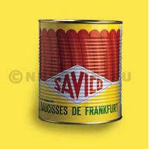 Saucisses de Francfort 50gr Savico 32pc