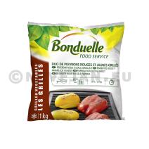Duo de Poivrons Rougee & Jaunee Grillés 1kg Légumes Surgelé Bonduelle