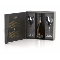 Champagne Henri Abelé Sourire de Reims Blanc Brut 75cl Cuvee Prestige + 2 flutes Coffret Cadeaux
