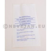 Hygienische zakjes in papier voor damesverband 500st