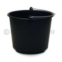 Seau en plastique PVC noir 12L 1pc