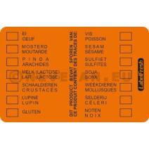 Labelfresh 500 Etiquettes 70x45mm Allergènes