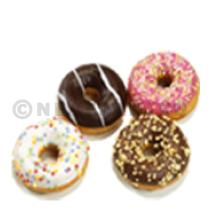 Poppies mini donuts 17gr assortiment 108st Diepvries