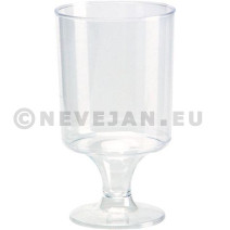 Verre de genièvre ou liqueur plastique 5cl  transparant 12pc