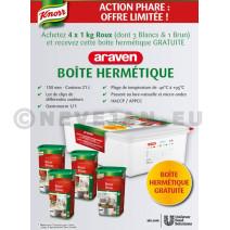 Promo Knorr 3 x Roux Blanc + 1 x Roux Brun+ Gratuit Boite Araven
