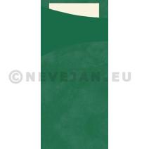 Sacchetto donkergroen 200x85 papier+servet 100st