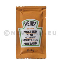Moutarde portions en sachets individuels 10ml 10.5gr Heinz