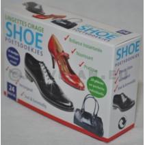 Lingettes Cirage Chaussure Emballé Individuelle 24pc
