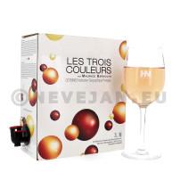 Les Trois Couleurs La Rousse Rosé 3L Vin de Pays d'Oc Bag in Box