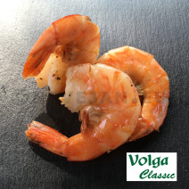 Volga Crevettes Vannamei 13/15 IQF Real Count Easy Peel 1kg  Surgelés
