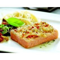 Zalmsteak Gratino zonder graat 150 gr/st Atlantisch 5kg Pieters Foodservice Diepvries