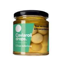 Caviaroli Drops Olives Spheriques 215gr bocal