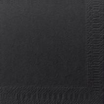 Serviettes en papier noir 2-couches 24x24cm 300pc Duni 168386