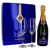 Champagne Pommery Royal 75cl Brut + 2 flutes + Coffret Cadeau