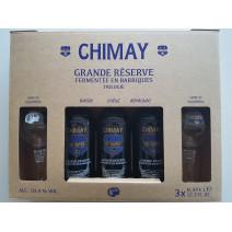 Chimay Trilogie 3x37,5 cl + 2 verres + Cofftret Cadeau