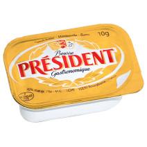 President portions beurre micropains 10gr coupelles 100pc Gastronomique
