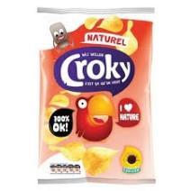 Croky Chips regular Sel 20x45gr (Koek - snoep - chips - nootjes)