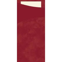 Duni Sacchetto bordeaux 200x85 papier+serviette champagne 100pc