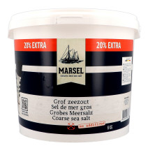 Marsel Sel de Mer Gros 6kg seau (Zout & Peper)