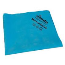 Vileda MicronQuick Lavettes Microfibres 38x40cm bleu 5pc