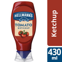 Hellmann's tomato ketchup 430ml bouteille pincable