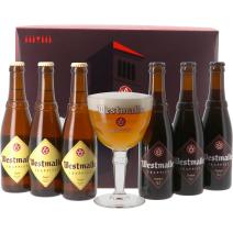 Westmalle 6x33cl (3x Dubbel & 3x Trippel) + 1 Glas in Geschenkverpakking (Bier)