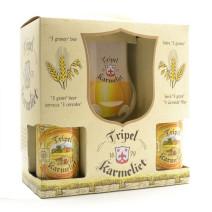 Karmeliet Tripel 4x33cl + glas + geschenkverpakking