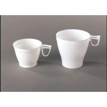 Tasse à Café plastique blanche avec anse 18cl 20pc