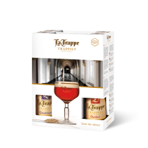 Bière Trappiste la Trappe 4x33cl + 1 verre + cadeau emballage