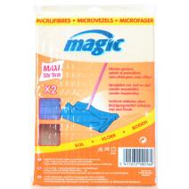 Magic Serpillière Microfibre 50x70cm Bleu 2pc