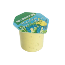 Vinaigrette Moutarde sauce pour moules portions en coupelles 120x40ml Risso Vandemoortele