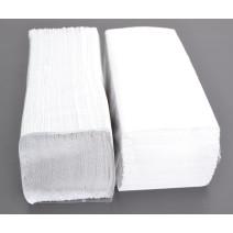 Essuie-Mains papier plier Cellulose blanc 1-couches Zig Zag 25x23cm 4600pc